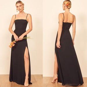 Reformation Black Ingrid Dress Size 2